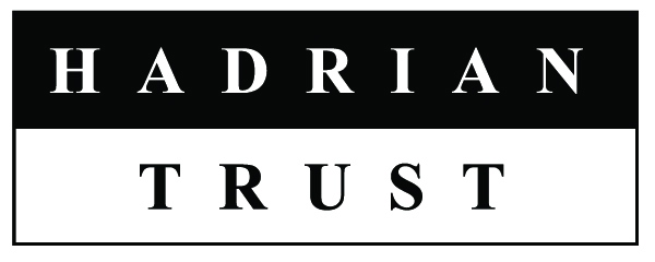 Hadrian Trust - a logo with Hadrian written in white on a black background, and Trust written in black on a white background.