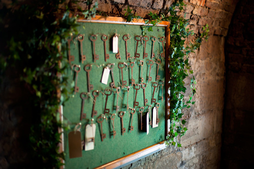 Seaton Delaval Hall Homecoming production - a board of keys. Photo credit: Reed Ingram Weir