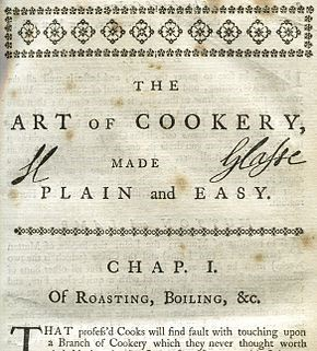 Foods and Feuds: Two Cooks of Hexham – front cover of The Art of Cookery made Plain and Easy. © November Club