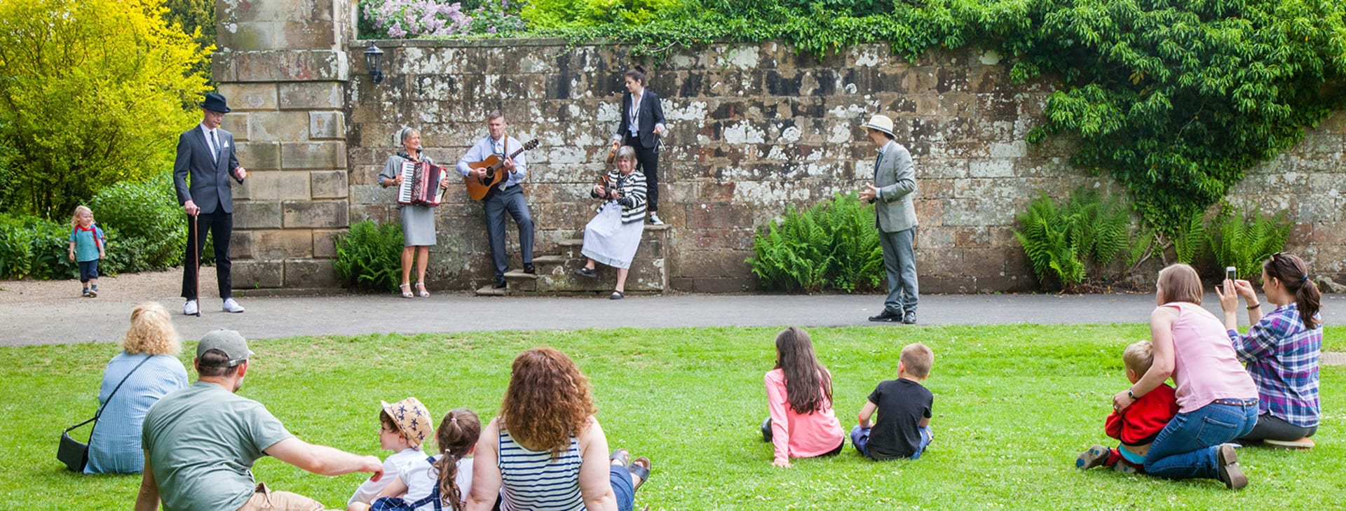 A performance of Provocations and Revelations at Wallington Hall, National Trust 2018